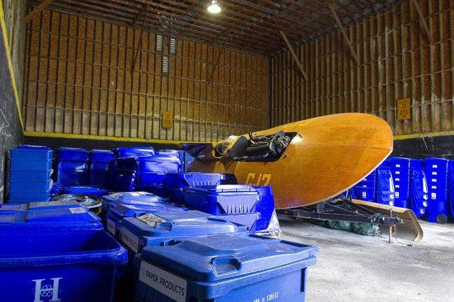 boat in barn